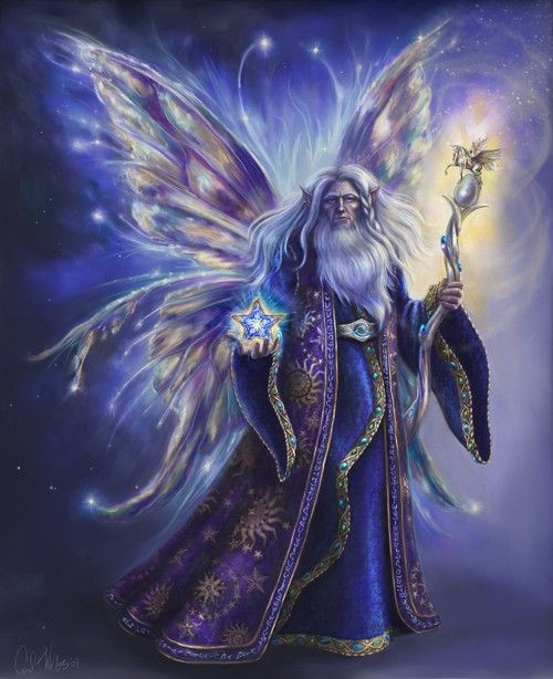 Fantasy Art, Fairy  Art, Wizard Fairy Limited Edition Print Mage Sorcerer character concept art.jpg